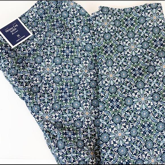 Charter Club Pants - Charter Club Bristol skinny ankle pants motif